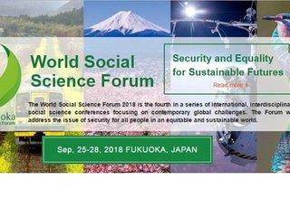 The World Social Science Forum 2018 in Fukuoka, Japan