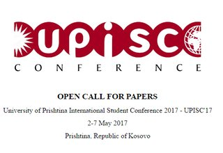 University of Prishtina International Student Conference 2017 - UPISC'17